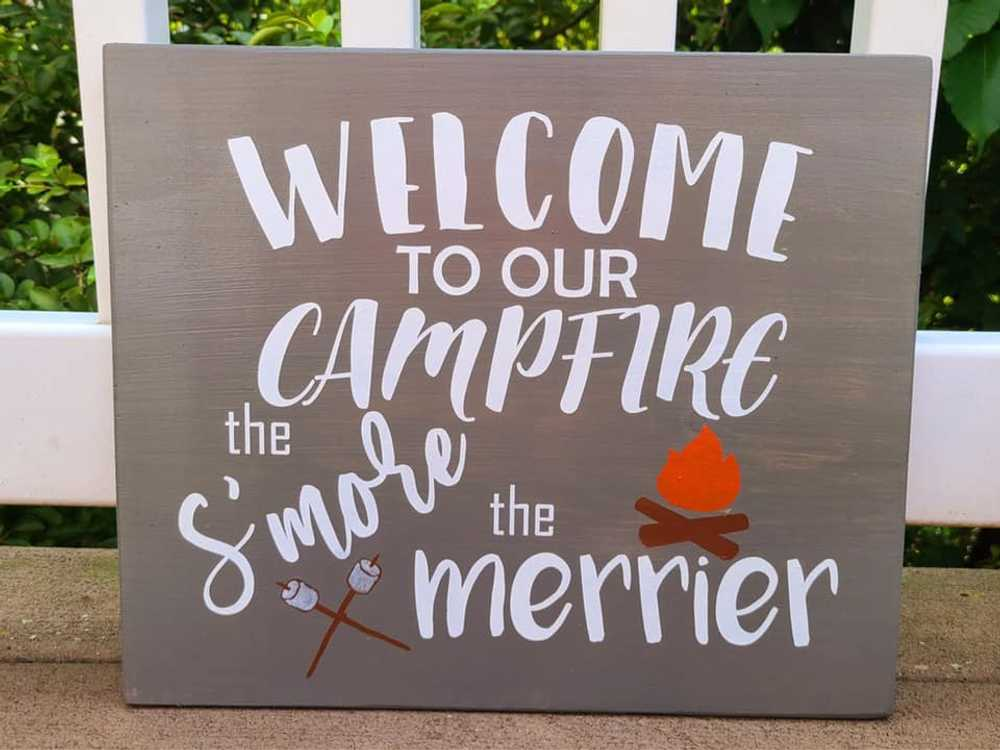 Craft Allie Wood sign Painting