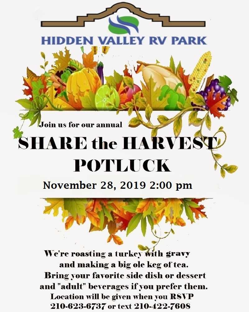 Share the Harvest Potluck 2019