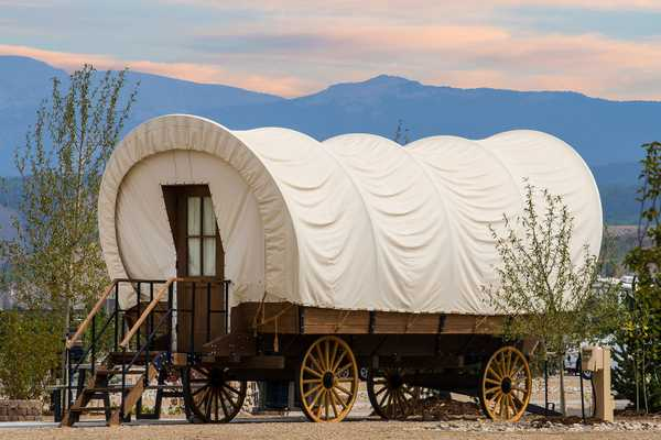 Conestoga Wagon King Bed & Twin Bunk
