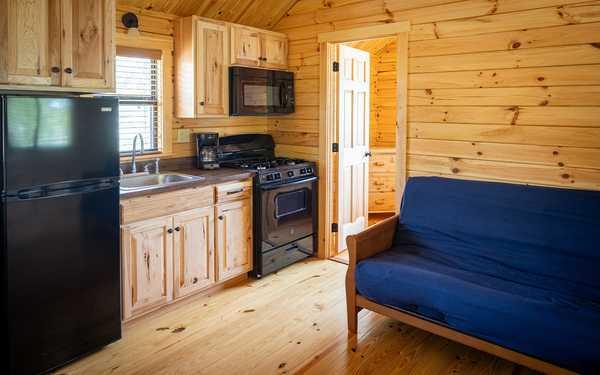 Riverfront Saco Sunset Cabin