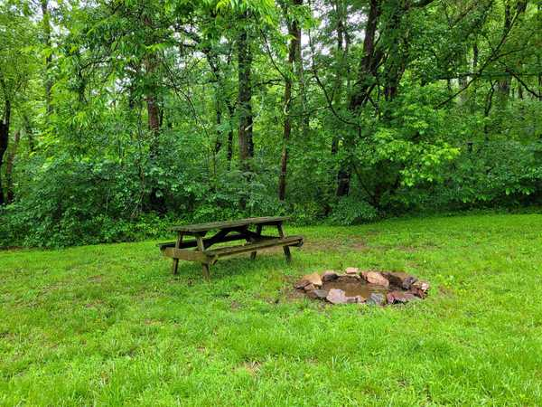 Medium River Front Primitive Tent Site (up to 10 people)