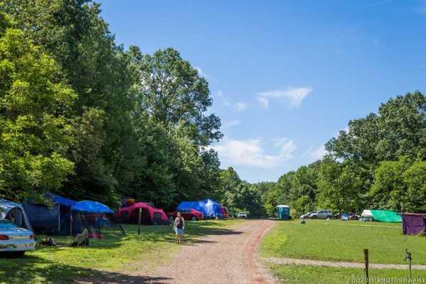 Primitive Field Treeline Campsite