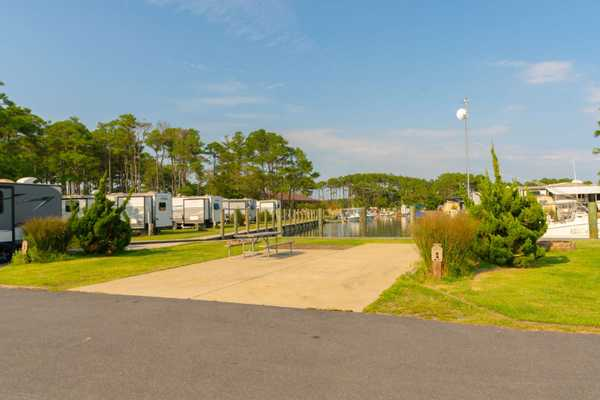 Waterfront Full Hookup Back-In RV Site