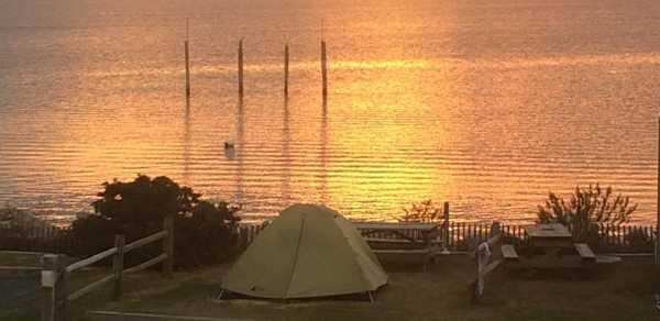 Waterfront Tent Site w/water & elec