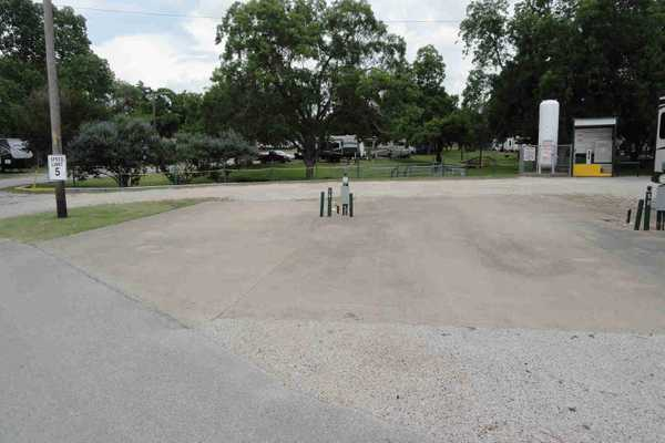Concrete Pull-Through RV Site