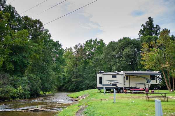 Premium 30 Amp RV Creek-side Site