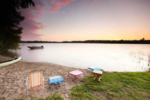Lakefront Campsite with Private Beach