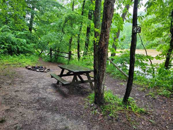Small River Front Primitive Tent Site (up to 6 people)