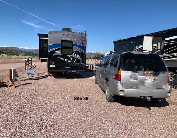 Deluxe RV Site with Patio 30/50 Amp