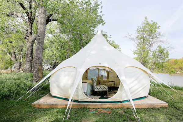 TWO PERSON PRIMITIVE GLAMPING YURT