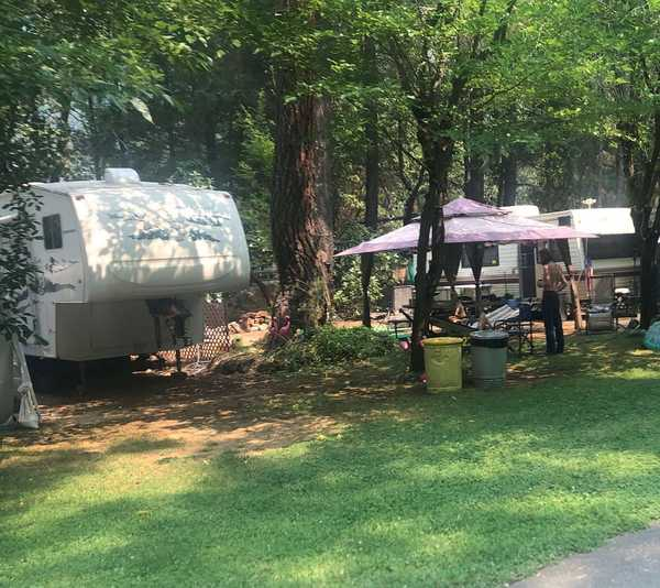 30 Amp Full Hook Up Shaded RV Site (Back-In) (Site N = Pull-In Only)