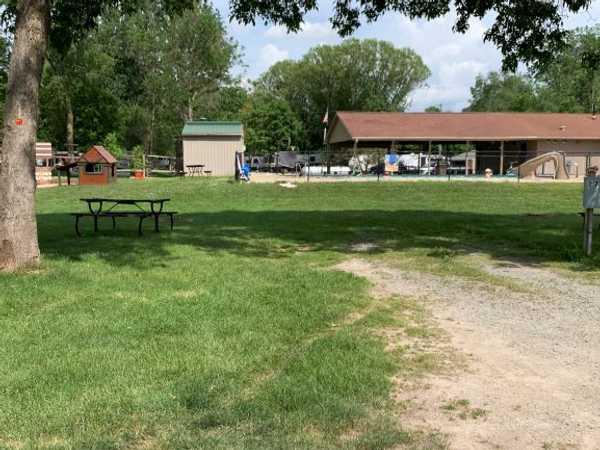 Campsite near the pool